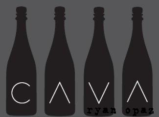 Cava black bottles with label